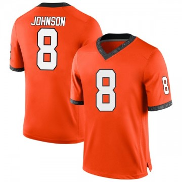 Men's Braydon Johnson Oklahoma State Cowboys Nike Game Orange Football College Jersey