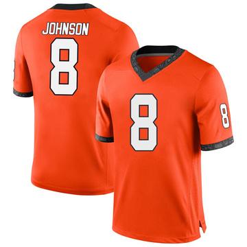 Men's Braydon Johnson Oklahoma State Cowboys Nike Replica Orange Football College Jersey