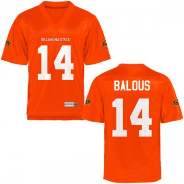 Men's Bryce Balous Oklahoma State Cowboys Authentic Orange Football Jersey -