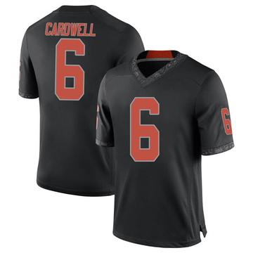 Men's JayVeon Cardwell Oklahoma State Cowboys Nike Game Black Football College Jersey