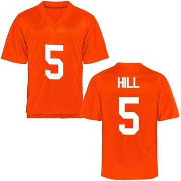 Men's Justice Hill Oklahoma State Cowboys Replica Orange Football College Jersey