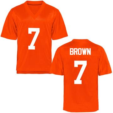 Men's LD Brown Oklahoma State Cowboys Game Orange Football College Jersey