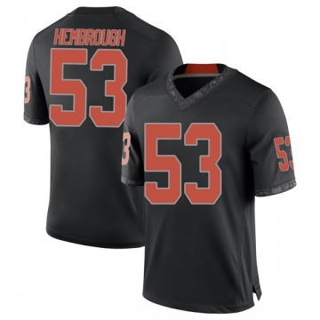 Men's Matt Hembrough Oklahoma State Cowboys Nike Game Black Football College Jersey