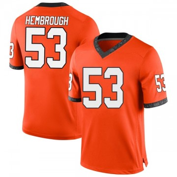 Men's Matt Hembrough Oklahoma State Cowboys Nike Game Orange Football College Jersey