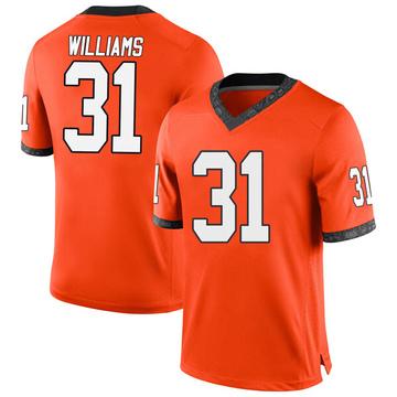Men's Taje Williams Oklahoma State Cowboys Nike Replica Orange Football College Jersey