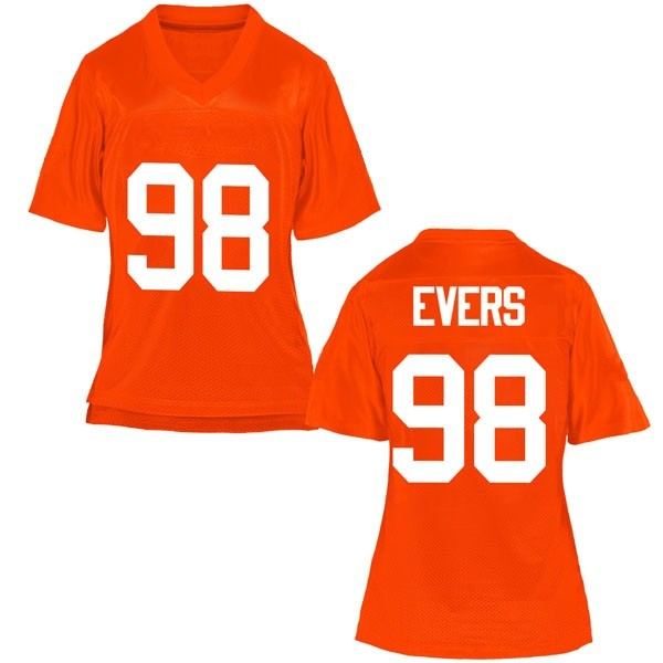 Women's Brendon Evers Oklahoma State Cowboys Game Orange Football College Jersey