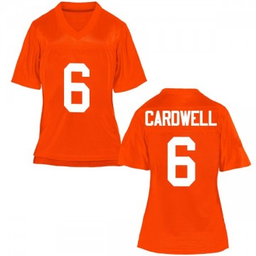 Women's JayVeon Cardwell Oklahoma State Cowboys Game Orange Football College Jersey