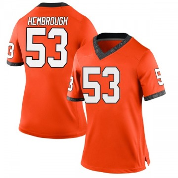 Women's Matt Hembrough Oklahoma State Cowboys Nike Replica Orange Football College Jersey