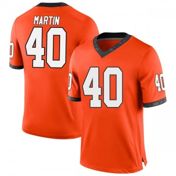 Youth Brock Martin Oklahoma State Cowboys Nike Game Orange Football College Jersey
