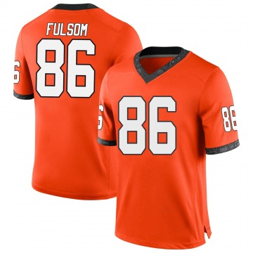 Youth Cale Fulsom Oklahoma State Cowboys Nike Replica Orange Football College Jersey
