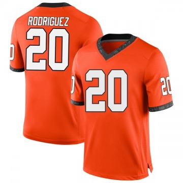 Youth Malcolm Rodriguez Oklahoma State Cowboys Nike Game Orange Football College Jersey